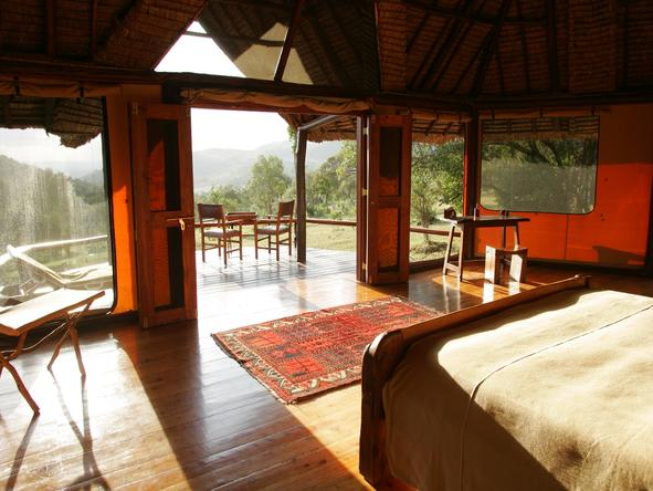 Saruni Mara - morning on the deck