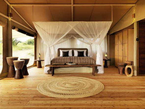Serengeti Bushtops Luxury Tented Camp - bedroom