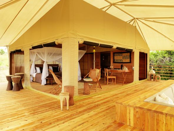 Serengeti Bushtops Luxury Tented Camp - private suite