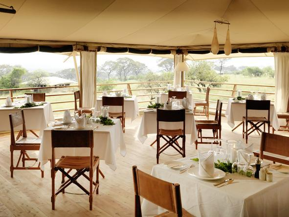 Serengeti Bushtops Luxury Tented Camp - dining room