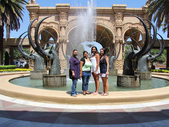 Sharlaine Assur - taking in the sights and sounds of magical Sun City