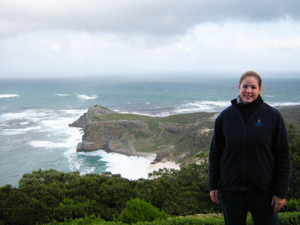 Shelley Hess - visiting impressive Cape Point on a wintery afternoon
