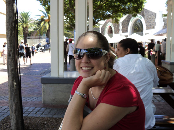 Shelley Hess - taking some weekend time out at the V&A Waterfront, Cape Town