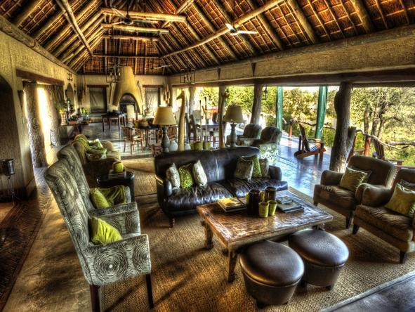 Simbambili Game Lodge - Lounge