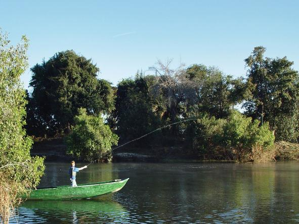 Sindabezi  Island Camp - canoe + fishing