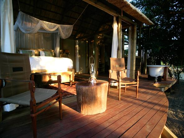 Sindabezi  Island Camp - private deck 2