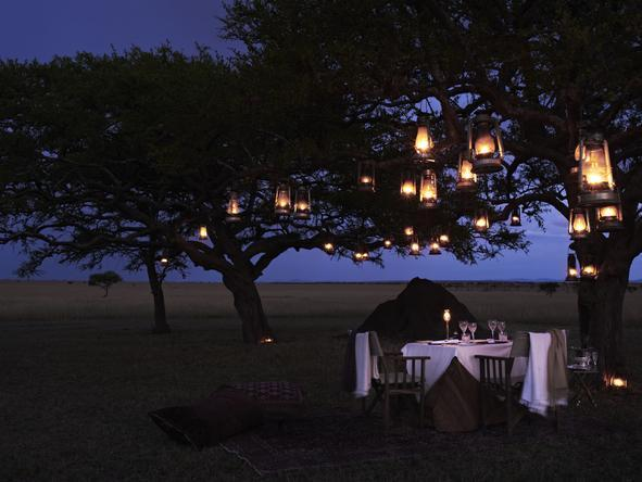 Singita Sabora Tented Camp - Bush Dining