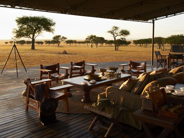 Singita Sabora Tented Camp - Deck