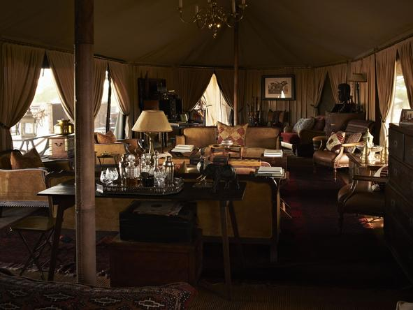 Singita Sabora Tented Camp - Lounge