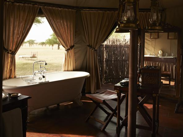 Singita Sabora Tented Camp - Bathroom