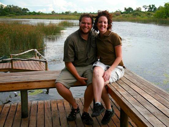 Stuart Parker - relaxing in the beautiful Okavango Delta