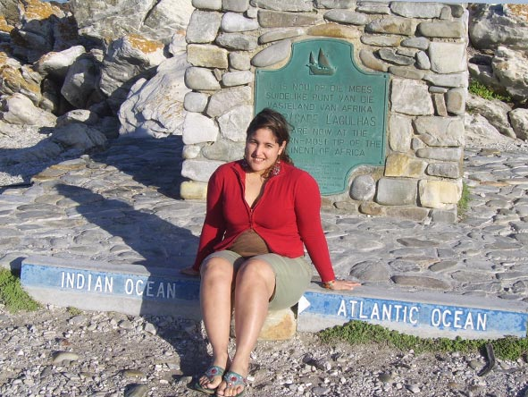 Tanya Ellis - at the south-eastern most point of Africa - Cape Point