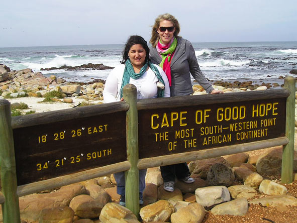 Tanya Ellis - visiting the Cape of Good Hope