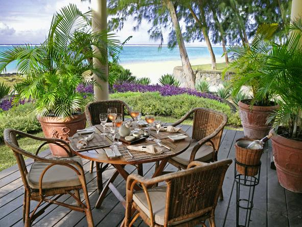 The Residence Mauritius - private deck dining