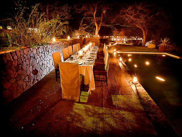 Thornybush Main Lodge - Dinner