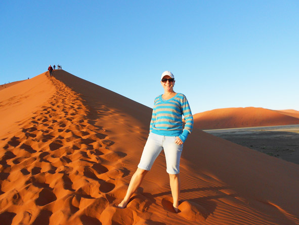 Tracy Payne - Dune 45 at Sossusvlei is the largest dune in the world