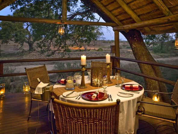 Ulusaba Rock Lodge - Dinner