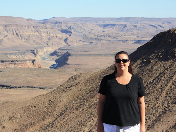 Veruschka Nel - stopping on a self-drive Namibia holiday at the incredible Fish River Canyon