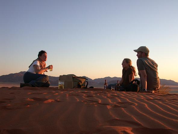 Wolwedans Private Camp - picnic on dunes